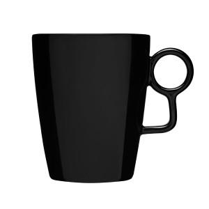 Sagaform ® Loop Black Stoneware Coffee Mug